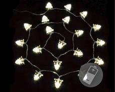 """Гирлянд """"Коледно дърво"""" 20 ТОПЛО БЕЛИ led с батерии 1,7м"""