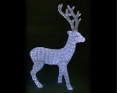 Светеща фигура ЕЛЕН от акрил и LED лампички, СТУДЕНО БЯЛ 90 см.