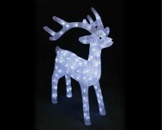 Светеща фигура ЕЛЕН от акрил и LED лампички, СТУДЕНО БЯЛ 75 см.