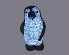 Светеща фигура ПИНГВИН от акрил и LED лампички, СТУДЕНО БЯЛ 50 см.