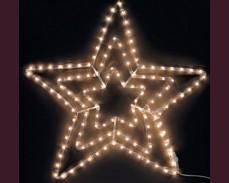 Светеща звезда от маркуч с ТОПЛО БЕЛИ led лампи 70см