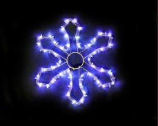 Светеща фигура СНЕЖИНКА от LED маркуч СИН 35х35 см
