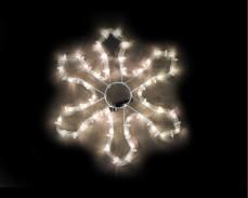 Светеща фигура СНЕЖИНКА от LED маркуч ТОПЛО БЯЛ 35x35 см