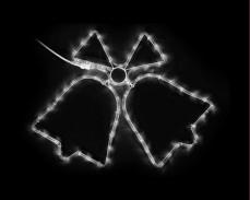 Светеща фигура ДВЕ КАМБАНИ от LED маркуч СТУДЕНО БЯЛ 65х47 см