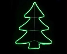 Светеща фигура ЕЛХА от LED НЕОН ЗЕЛЕН 42х55 см.