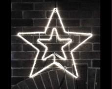 Светеща фигура ЗВЕЗДА от LED НЕОН БЯЛ 55х55 см.