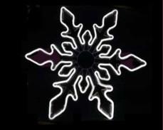 Светеща фигура СНЕЖИНКА от LED НЕОН БЯЛ 56х65 см.