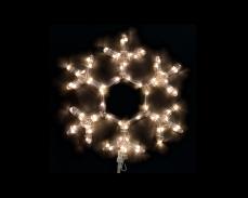 Светеща фигура СНЕЖИНКА от LED маркуч ТОПЛО БЯЛ 35х40 см