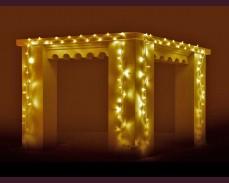 Светещ гирлянд 100 ЖЪЛТИ led лампи 10м влагоустойчив