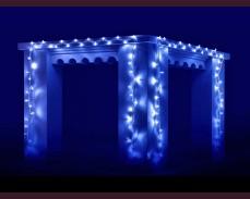 Светещ гирлянд 100 СИНИ led лампи 10м влагоустойчив