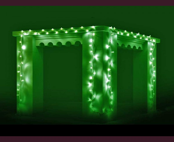 Светещ гирлянд 100 ЗЕЛЕНИ led лампи 10м влагоустойчив