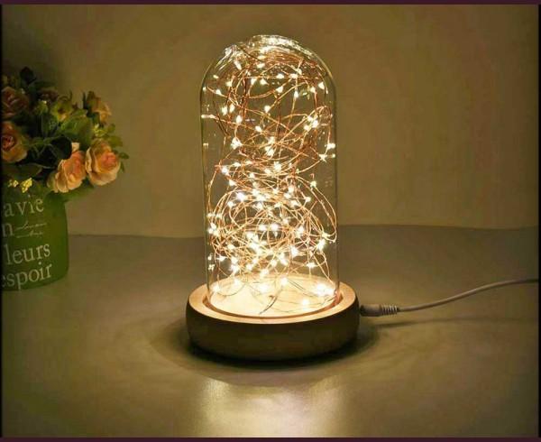 Стъкленица 100 ТОПЛО БЕЛИ микро LED лампи