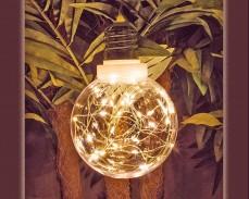 Декоративна крушка с 30 микро LED с батерии и таймер 12см