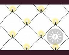 Светеща мрежа 181 ТОПЛО БЕЛИ led лампи соларни 3х3м