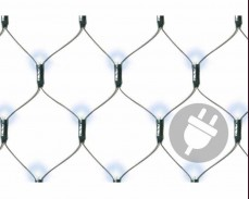 Светеща мрежа 120 БЕЛИ led лампи 1.1х0,9м