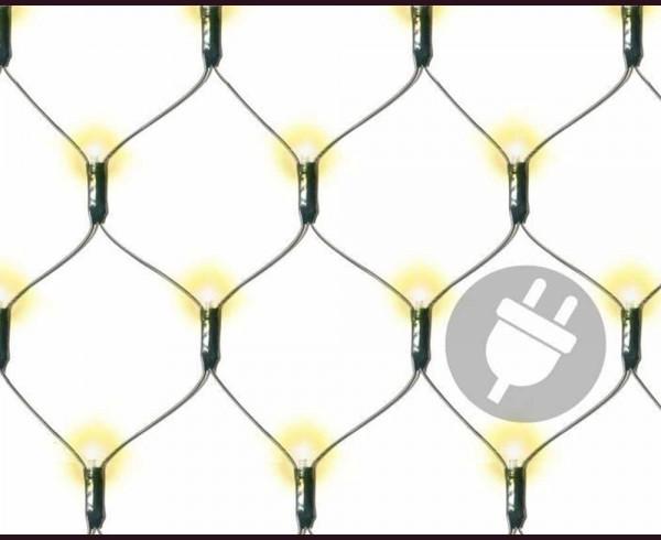 Светеща мрежа 160 ТОПЛО БЕЛИ led лампи с трансформатор 1,9х1,2м