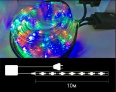 Комплект LED светещ маркуч 10м  с контролер Разноцветен