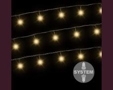 Светещ гирлянд 100 ТОПЛО БЕЛИ led лампи за декоративна система