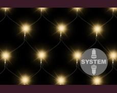 Светеща мрежа 100 ТОПЛО БЕЛИ led лампи за декоративна система