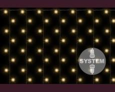 Светеща завеса 200 ТОПЛО БЕЛИ led лампи за декоративна система