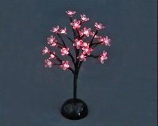 """Дърво """"Светещ цвят"""" 24 ЧЕРВЕНИ led 37см на батерии"""