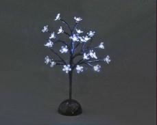 """Дърво """"Светещ цвят"""" 24 БЕЛИ led 37см на батерии"""
