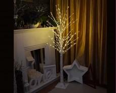 Дърво БРЕЗА с 225 ТОПЛО БЕЛИ LED лампички 150см