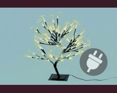 Дърво с 64 ТОПЛО БЕЛИ led лампи  45см