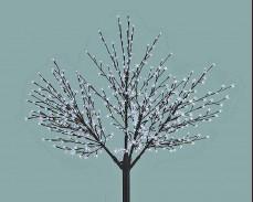 """Дърво """"Светещ цвят"""" 624 БЕЛИ led 250см"""