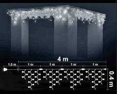 Висящи 120 БЕЛИ led лампи 4м влагоустойчиви с бял кабел