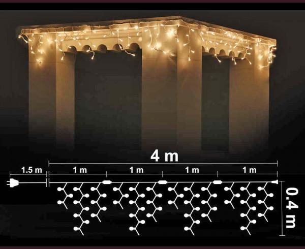 Висящи 120 ТОПЛО БЕЛИ led лампи 4м влагоустойчиви с бял кабел