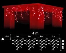 Висящи 152 ЧЕРВЕНИ led лампи 4м влагоустойчиви