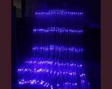 "Светещ ""Водопад"" 720 СИНИ led лампи 3 х 2.4м"