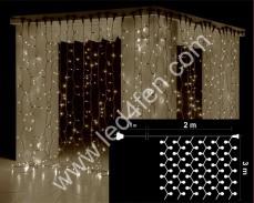 Светеща завеса 600  БЕЛИ led 2х3м бял кабел