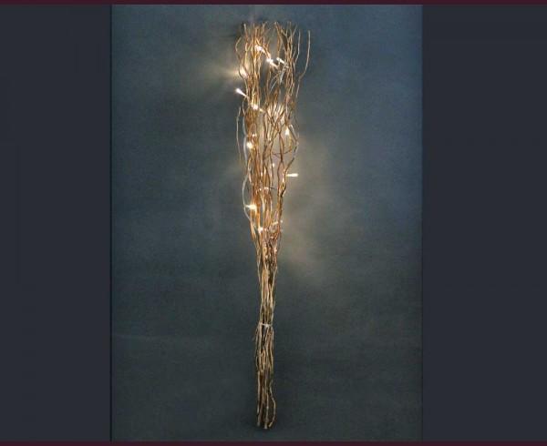 Клонки златисти с 20 LED ТОПЛО БЕЛИ лампички