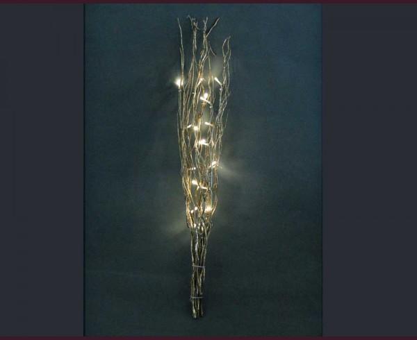 Клонки злато и брокат с 20 LED ТОПЛО БЕЛИ лампички