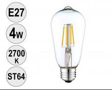Крушка LED filament E27 4W 2700K ST64