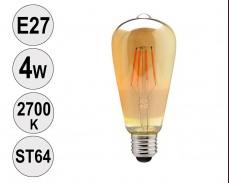 Крушка LED filament E27 4W 2700K ST64 тонирана