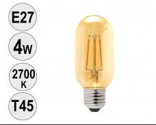 Крушка LED filament E27 4W 2700K T45 тонирана