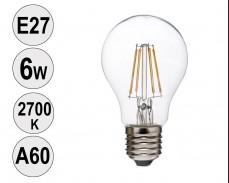 Крушка LED filament E27 6W 2700K A60