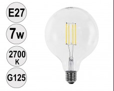 Крушка LED filament E27 7W 2700K G125