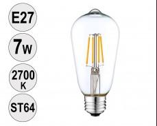 Крушка LED filament E27 7W 2700K ST64