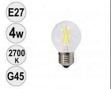 Крушка LED filament E27 4W 2700K G45
