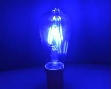 СИНЯ LED filament крушка ST64 6W 220V