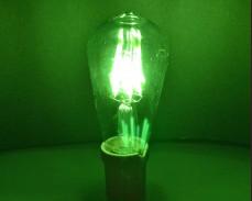 ЗЕЛЕНА LED filament крушка ST64 6W 220V