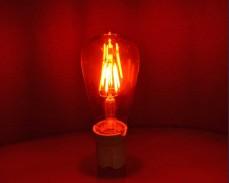 ЧЕРВЕНА LED filament крушка ST64 6W 220V