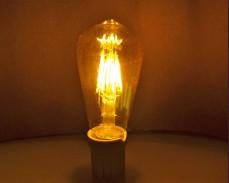 ЖЪЛТА LED filament крушка ST64 6W 220V