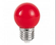 ЧЕРВЕНА LED крушка 3W Е27 P45 220V