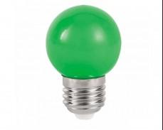 ЗЕЛЕНА LED крушка 1W Е27 P45 220V