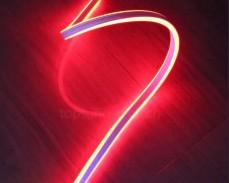 Двустранно светещ LED НЕОН гъвкав маркуч ЧЕРВЕН 220V